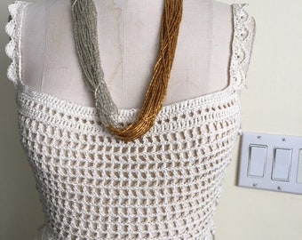 Hand Crocheted Summer Crop Top