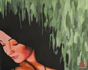 Self Portrait Print Painting, Inspirational Art, Home Wall Decor, Desk Art, Gifts Under 5