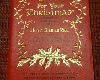 """Vintage """"For Your Christmas"""" Helen Stemer Rice Christmas Verses Lawrence Welk Show 1966"""