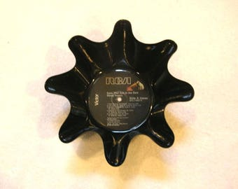 Kenny Rogers Record Bowl Made From Vinyl Album - Country Music