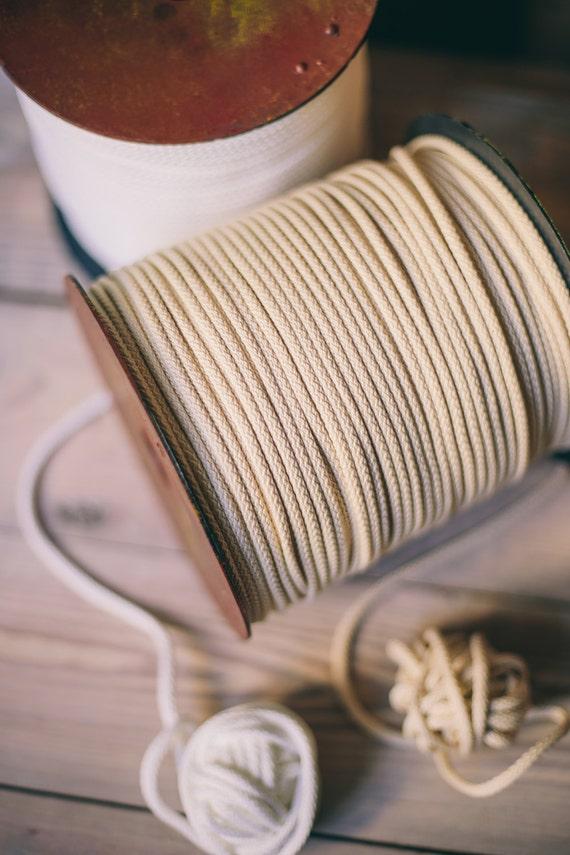 Ivory white Craft yarn- ivory polyester rope- macrame cord- knitting yarn- craft supplies- macrame yarn- crochet yarn-218 yards of cord #03