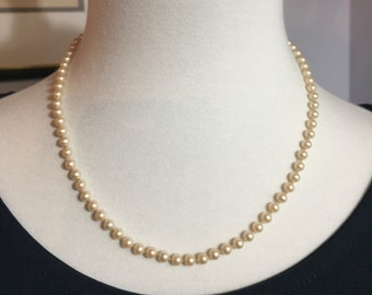 Trifari Pearl Necklace - 16""