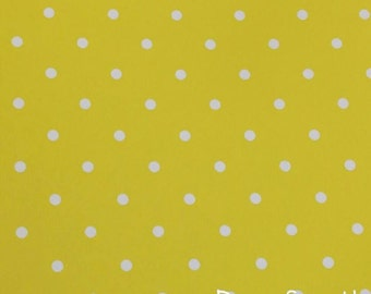 Yellow Polka Dot Vinyl, Polka Dot Vinyl, Adhesive Vinyl, Yellow Dot Vinyl, Permanent Vinyl, Polka Dots, Oracal 651, 12 X 12