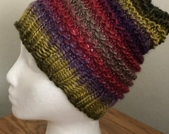 Handmade Loom Knit Slouch Hat