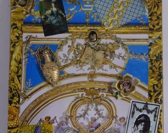 "Decorative painting ""ode  au baroque"" unique piece retro"
