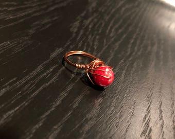 RED EYE RING [Size 8]