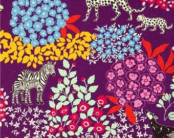 Echino Fabric   bond  2011  Purple  by  Estuko Furuya -  50cm