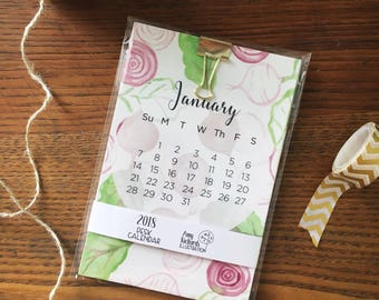 2018 Desk Calendar. Vegetable Calendar. Watercolor Veggies. Monthly Calendar. Desk Accessories. 2018 Calendar. Gift under 30. 4x6 Calendar