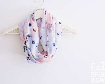 Pastel Fabric Scarf, Infinity Scarf, Soft Cotton, Loop, Circle, Eternity, Spring, Womens Fashion, Accessory, Gift for Her, Birthday Present