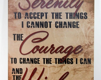 Serenity Prayer Inspirational gift plaque Vintage signs Primitive Wood Sign Home Wall Decor Wall hanging