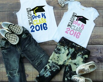 Pre-K Graduation Shirt - Pre K Grad Shirt - Preschool Graduation Shirt- Kindergarten Graduation Shirt - Graduation Shirt for Boy Girl