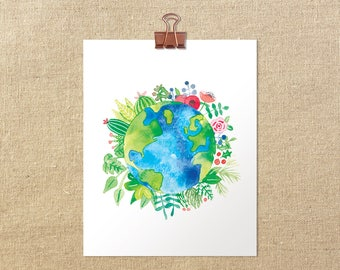 "Love Thy Earth // 5x7"" 8x10"" Giclée Art Print"
