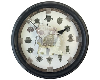 Shadow of the Colossus - 3D Wall Clock - Video Game Decor - Video Game Wall Art - Wall Art - Gamer Gift - Geek Gift - Video Game Clock