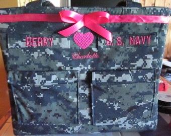 Anchor Navy Diaper Bag Navy baby handmade custom embroidery personalized colors for embroidery, lining and ribbon custom bag as you like it.