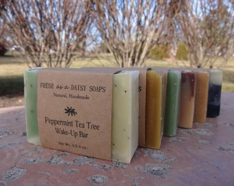 For Him - 6 Natural Handmade Soaps, or 6 Soaps of Your Choice