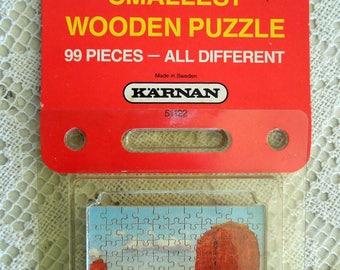 KARNAN World's Smallest Wooden Puzzle