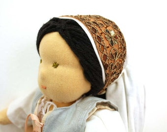Waldorf doll of a Biblical Woman, Thanksgiving doll, 12 inch Steiner sewn doll with doll clothes, Children Friendly, Collectible OOAK doll