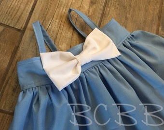 Cinderella Dress, Toddler Dress, Halloween Costume Dress Up Princess Play Dress Blue White Any Princess