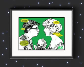 Signed 'Audrey and Seymour' Little Shop Of Horrors Movie Illustration Print Valentine/Anniversary/Birthday