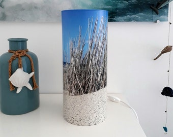 Table lamp with dunes / Gras / Sand / Handmade