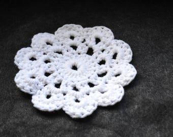 Handmade crocheted trivet/ planter accent/ stocking stuffers/ Christmas gift ideas/ gifts under 10