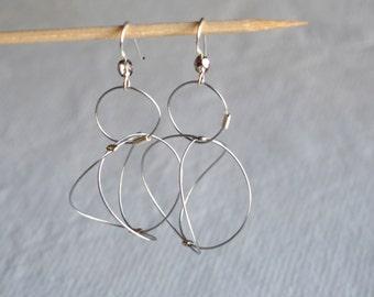 Earrings short lightweight aluminum