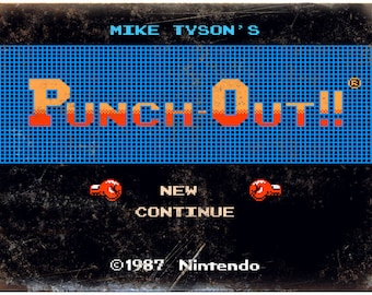 """Mike Tysons Punch Out Start Screen 10"""" x 7"""" reproduction metal sign"""