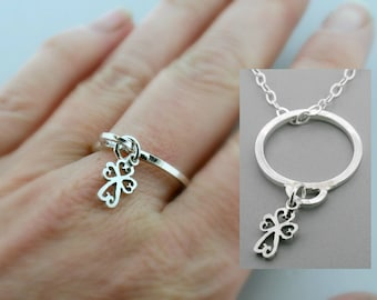 Charm Ring - Cross Ring - Stacking Rings - Dainty Ring - Stackable Ring - Stacker Ring - Gift For Her
