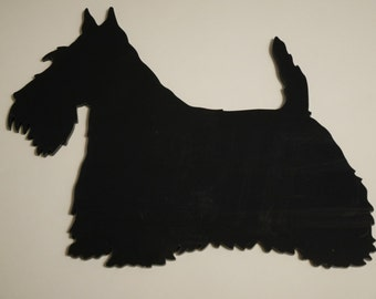Black Acrylic (Perspex) Scottie Dog Wall Display