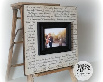 Anniversary Gift, Personalized Anniversary Picture Frame, Song Lyrics, 16x16 The Sugared Plums Frames