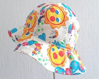 Girls Summer Hat, Girls Sun Bonnet, Child Bonnet, 0-6 mth, Summer Hat, Girls Bonnet, Sun Hat, Floppy Sun Hat, Childrens Sun Hat, Girls Hat