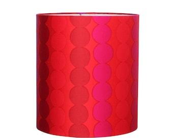 Marimekko Lamp Shade - Red Polka Dot - Drum Lampshade - Modern Chic Decor - Table Lamp Shade - Girls Office Room
