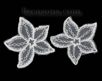 LOT 2 APPLIQUE lace: Starfish 7cm
