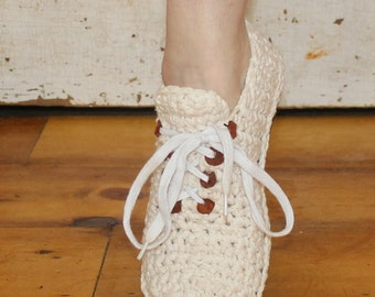 Crochet Sneakers Pattern----- SNEAKERS-----Style 1-----Cute and Summery------Adult size 5-14----STREET SHOES----wear them outdoors---lace up