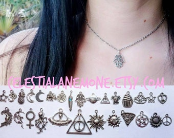 Charm Necklace OR Choker on Chain