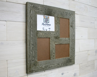 "4 pane 5x7 Barn Wood ""Z"" [Thin x 3""] Picture Frame"