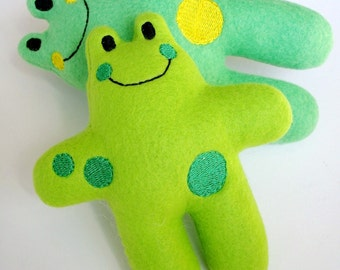 Frog Softie In-The-Hoop Machine Embroidery