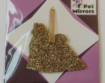 Glitter acrylic Maltese Style 1 Christmas decoration - 9 colour choices