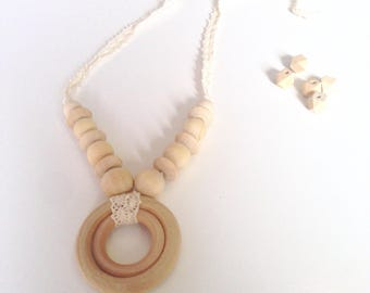 Wooden All Natural Breastfeeding Mama Style Necklace