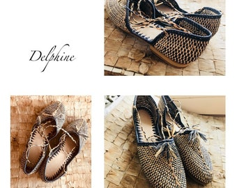 Raphia Bast Ballerinas sandals handmade Ibiza Bohostyle blogger Indivisualisierbar 39 new Organic Fair Trade