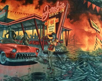 Alexander Henry Zombie Drive In  100% Cotton Fabric