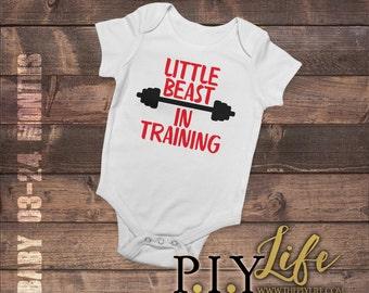 Kids   Little Beast in Training Kids Bodysuit DTG Printing on Demand