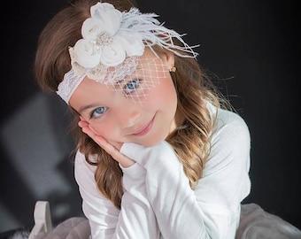 Flower Girl Headband, Baby Headband, Rhinestone Headband, Gatsby Headband, Wedding Headband, Bridal Headband, Bridesmaid Headpiece