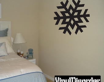 Snowflakes Vinyl Wall Decal Or Car Sticker - Mv001ET