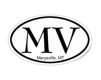 Marysville, MT Oval Sticker