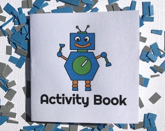 Robot Birthday Activity Books - 12 count , Party Favors, Robot Party Supplies, School Treat Favor