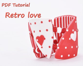 Polymer clay PDF Tutorial Retro Love