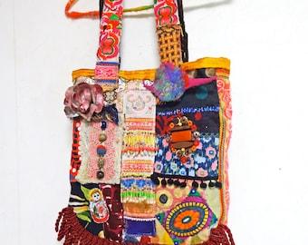 SALE 30% off Bohemian Vintage Patchwork Tote bag