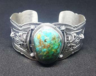 Beautiful Sierra Turquoise Cuff Bracelet Navajo