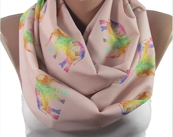 Elephant Scarf Animal Infinity Scarf Bohemian Accessory Elephant Print Scarf Boho Scarf Mothers Day Gift For Mom Gift For Her Gift For Women